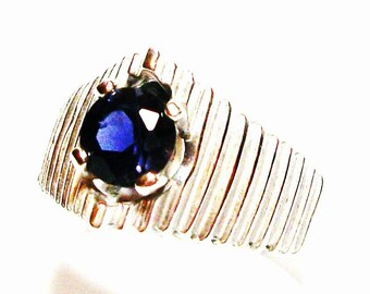 "Iolite ring, iolite, blue iolite, blue jewelry, blue, s 7  ""My blue  heaven"""