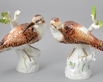 A Pair Of Meissen Porcelain Figures In The Form Of Birds, 1963