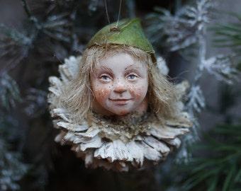 Pixie girl Mette handmade decoration