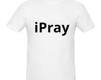 Christian T-Shirt, i Pray, Christian Tee Shirt, Religious T-Shirt,Christian Tshirt Christian Apparel,Tee Shirt T- Shirts Christian Tee Shirt