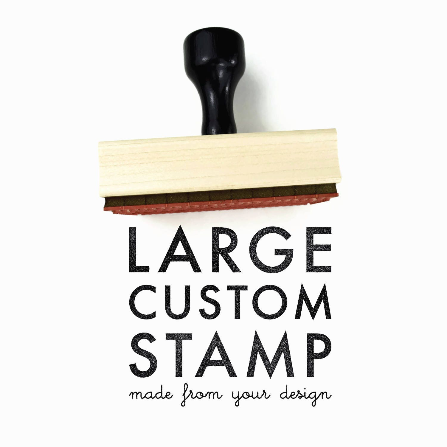Custom LOGO or DRAWING Rubber Stamp Up to 2 x 2   Custom Logo Rubber