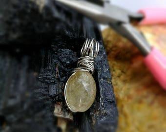 Bon bon pendant of rutile quartz