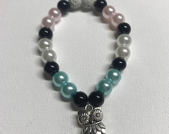 Wise Owl Pearl Essential Oil Diffusing Bracelet