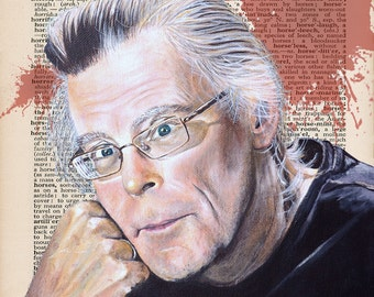 Stephen King - Print of Antique Dictionary Page with 'Horror'