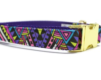 Canvas Dog Collar | Metal Buckle Dog Collar | Purple Dog Collar | Girl Dog Collar | Boy Dog Collar | Summer Dog Collar | Funky Dog Collar