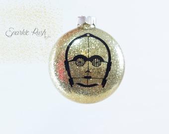 C-3PO Personalized Ornament /C-3PO Ornament/Christmas Ornament/Plastic Ornament/Personalized Plastic Ornament/Christmas/C-3PO/STARWARS