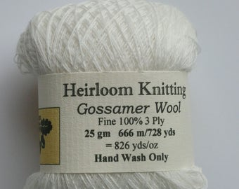 Gossamer Wool or Merino ~ 6 sent for every 5 bought ~  25g New White shade