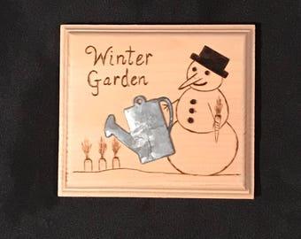 Winter Garden wood art