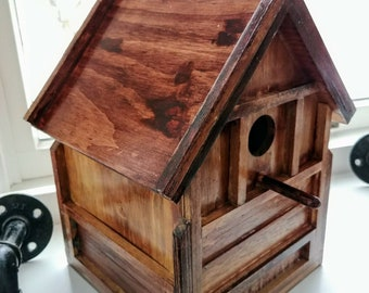 Personalized Rustic Bird house