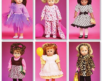McCalls 6005- Sewing pattern for 18 Inch Doll Clothes- Fits American Girl Dolls