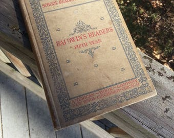 1897, Reader, 5th year reader, vinatge school book, vintage educational book,vintage book
