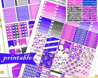 50%off NICE  PRINTABLE Planner Stickers | Instant Download | Pdf and Jpg Format
