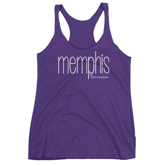 Memphis Tennessee Tank Top Tee TN State City Women's Racerback Tank