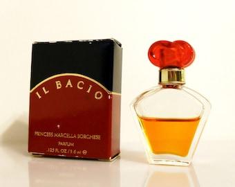 Vintage 1990s Il Bacio by Princess Marcella Borghese 0.125 oz Pure Parfum Miniature Mini PERFUME