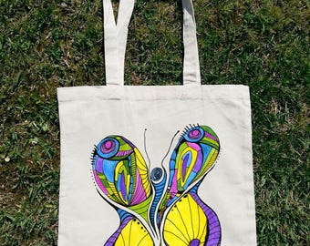 Animal Tote Bag, Entomologist Tote, Entomologist Gift, Biology Teacher, Art Tote Bag, Unique Tote Bag, Abstract Tote Bag, Butterfly Tote Bag