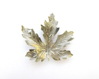 LAST ONE Silver Maple Leaf Barrette Bridal Hair Clip Bridesmaid Nature Inspired Autumn Fall Rustic Woodland Wedding Accessories Womens Gift