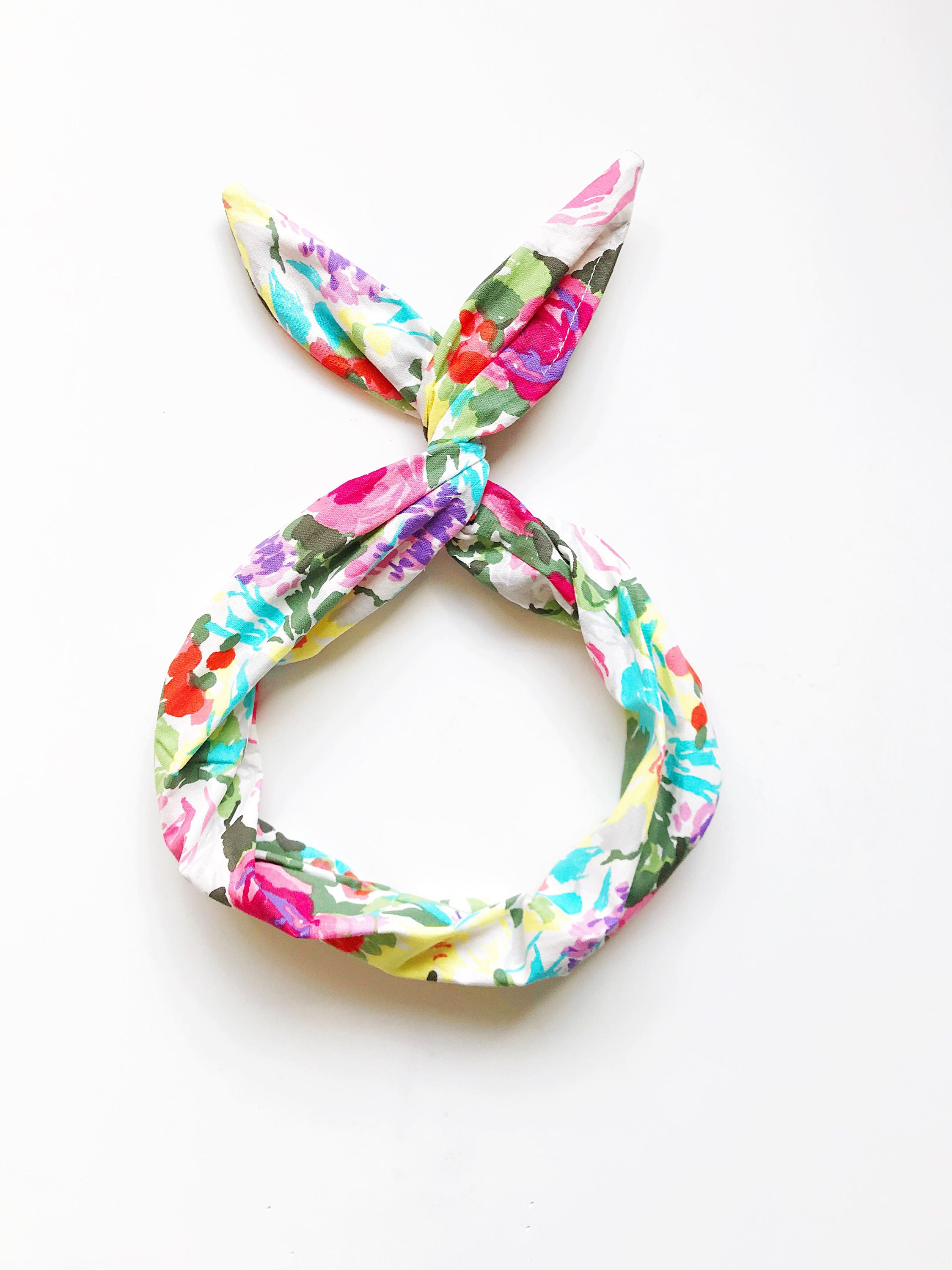 Floral Bouquet Wire Headband- Spring Floral Headband, Colorful Hair ...
