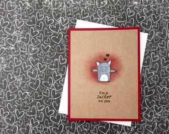 Punny Valentine Card Set, Bat Valentine Card, Funny Valentine Card, Handmade Card Set, Handmade Cards, Vampire Valentines Card, Punny Cards