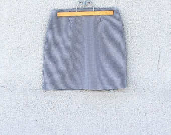 90s Gingham Mini Skirt