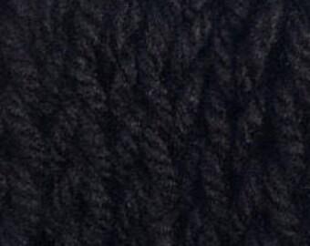 Infinity Scarf Black Chunky Knit Hand Knit 4inchx29inch