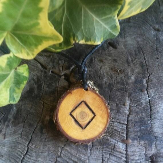 Rune Necklace - Rune Pendant -  Ingwaz - Talisman Necklace - Protection Necklace - Rune Jewelry