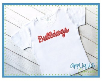 Personalized Bulldogs Football Applique Shirt or Bodysuit