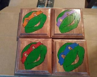 Teenage Mutant Ninja Turtles coasters.