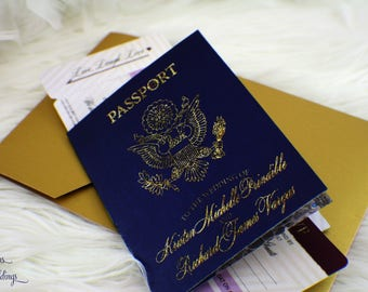 Passport Invitation | Passport Wedding Invitation | Boarding Pass Invitation | Destination Wedding Invitation | Travel Wedding Invitation
