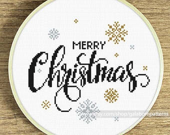 Christmas snow - PDF counted cross stitch pattern - Instant download
