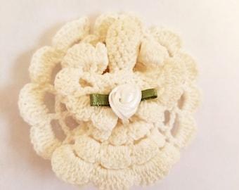 Crocheted Angel Pin