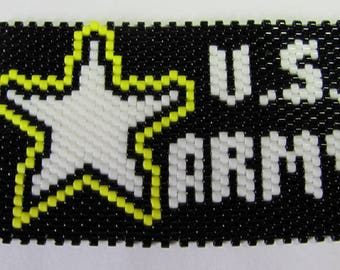 Hand Beaded U.S. Army G2 pen wrap with  pen