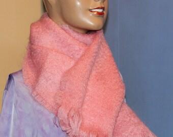 100% mohair woven scarf