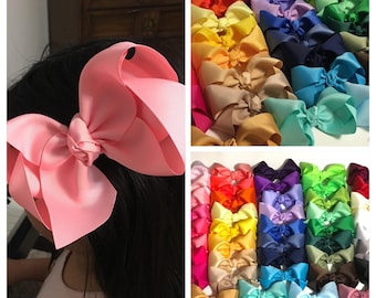 "6"" extra big bow, bows for girls, large hair bow for toddlers, big hair bows, baby bow, boutique hair bow, extra large bows"