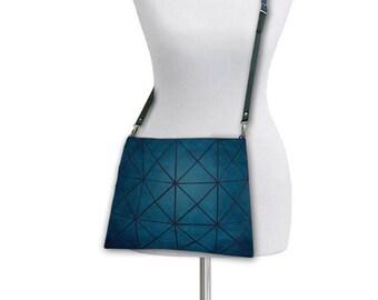 Vintage turquoise Bag, Leather crossbody bag, Turquoise Bag, Leather Crossbody, Turquoise Crossbody Bag, Crossbody Bag, Ladies Bag