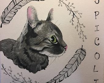 Custom 10 x 10 Canvas Pet Portrait