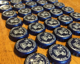 50 Blue Lagunitas Bottle Caps