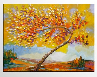 Tree Painting, Abstract Painting, Abstract Art, Canvas Art, Oil Painting, Wall Art, Large Art, Canvas Painting, Floral Art, Large Painting