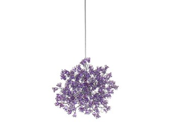 Pendant Light, Hanging Pendant lamp, Chandeliers with Violet jumping flowers for hall, bedroom,a unique pendant light