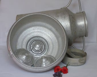 Large aluminum milk jug / Aluminum container / Vintage milk jug / Milk jug / Kitchen decoration / French vintage / Housewarning  / home gift