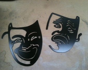 Plasma Cut Movie Faces Painted Metal Mancave Garage Wall Art Home Decor