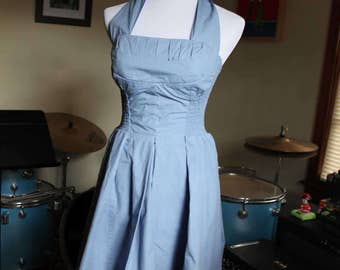 Rockabilly Halter Top Dress Size Small
