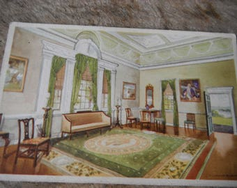 Antique Historical Postcard - The Banquet Hall Mount Vernon - Washington's Home
