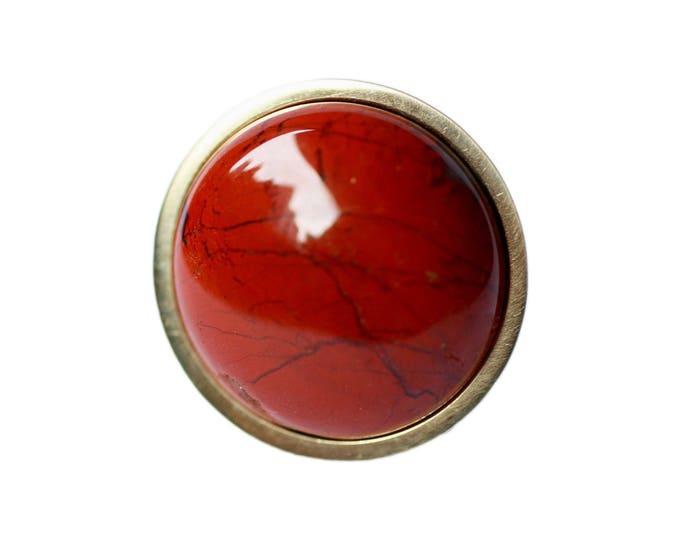 Red Cabinet Hardware-Red Cabinet Knob--Burnt Orange Home Decor--Flame