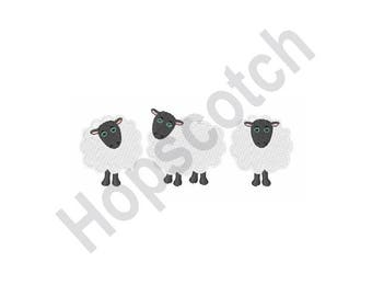 Count Sheep - Machine Embroidery Design