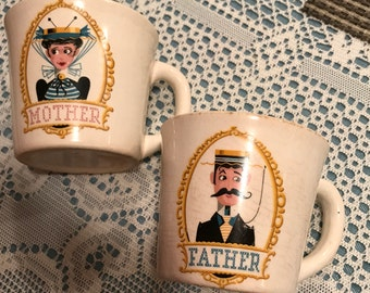 Vintage Mother and Father Cups. Made in the 50's I believe.
