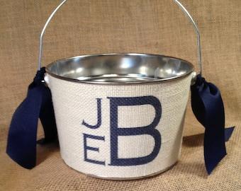 Personalized Easter basket, Easter Pail, Easter bucket, monogram, Custom, burlap bucket, birthday, wedding, Coastal, boy easter, girl easter