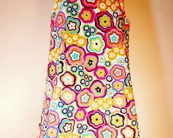 Girl's Retro Flower Power Dress