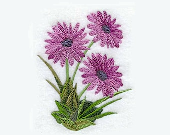 Asters Embroidered Kitchen Towel | Personalized Kitchen Towel | Embroidered Towel | Embroidered Tea Towel | Teacher Gifts | Purple Daisies