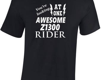 Awesome Z1300 Rider  T shirt  Funny Ideal Gift Biker personalised