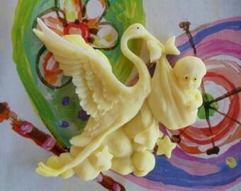 20 stork soap favors  - storks party favors - stork baby shower favors - gender reveal shower favors - stork baby sprinkle favors - storks